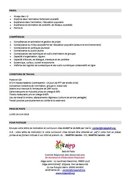 Offre de poste Anim engagement-citoyenneté Crajephdf (2)