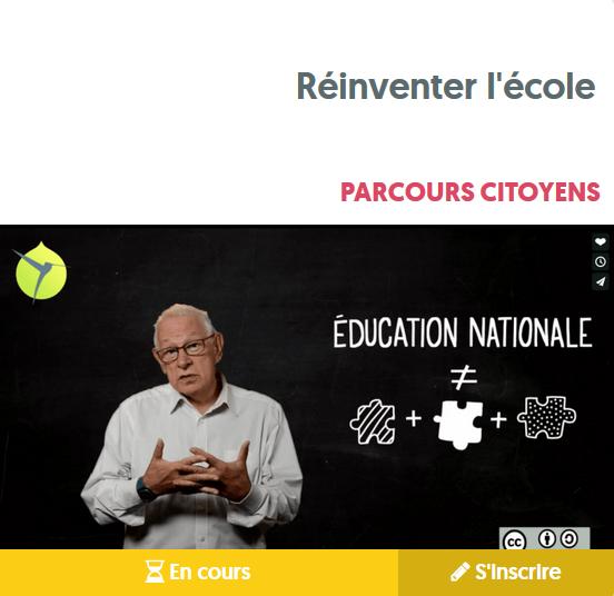 MOOC réinventer l'école