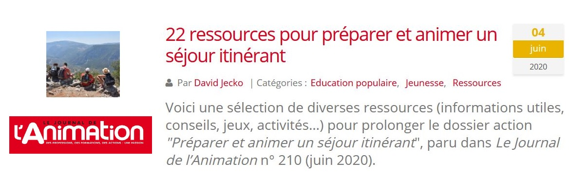 ressource animation